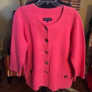Jones New York Pink Cardigan